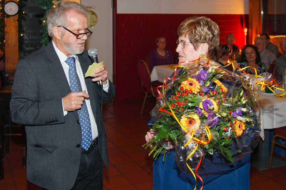 BV Vorsitzender R.-J. Krüger und 2.Vorsitzende G. Heinrich auf dem Jahresempfang